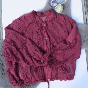 Free People Daisy Jane Embroidered Jacket